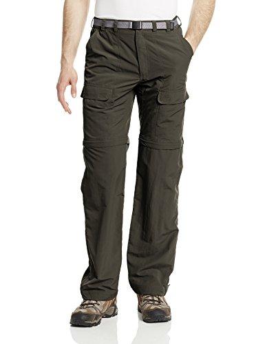White Sierra Men's Trail 34-Inch Inseam Convertible Pants, Dark Sage, XX-Large