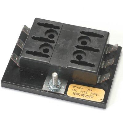 6 Circuit Blade Fuse Block 150 Amp Max Per Block 30 Amp Max Per Circuit Uses Common Power Stud (Ganged Fuse Block)