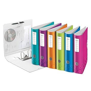 Leitz 938999 - Archivador A4 lomo, 82 mm, colores surtidos: Amazon.es: Oficina y papelería