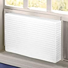LBG Products Indoor Window Air Conditioner Cover 28L x 20H x 4D Inches for Window AC Units,Double Insulation,White