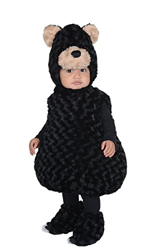 Bear Toddler Costumes (Toddler's Black Bear Belly Babies Costume -)