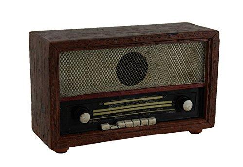 Zeckos Brown Vintage Finish Retro Console Radio Coin Bank 7 - Bank Vintage Coin