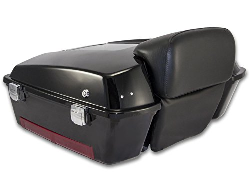 Price comparison product image Bagger Brothers BB-HD1584-037 Vivid Black Chopped Tour Pak with Backrest