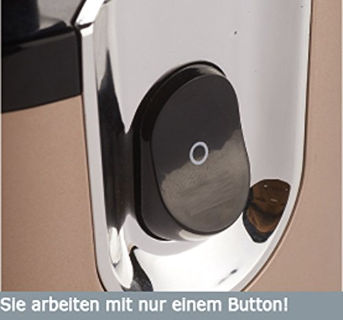 champagner Acopino 361 Delicato Slow Juicer Kaltpress-Entsafter mit Press-Schnecken-Technik f/ür ganze Fr/üchte