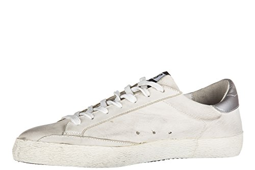 Golden Goose chaussures baskets sneakers homme en cuir superstar gris