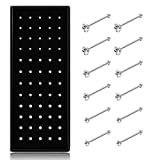 Thunaraz 60-120pcs Stainless Steel Nose Studs Rings Piercing Pin Body Jewelry 22G 1.5mm 2mm 2.5mm