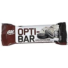 OPTIMUM NUTRITION ON-902 Opti-Bar Protein Bar, Cookies-N-Creme, 12-Count, 60-Gram