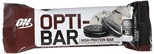 Optimum Nutrition Opti-Bar, Cookies N Cream, 12 Count