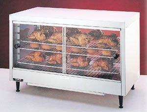 Nemco 6460 Lighted Heated Display Case, 23-3/4'' x 28-1/8'' x 13-1/16'', Sliding Glass Doors