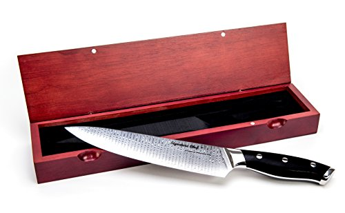 Signature Chef 8 Quot Damascus Steel Chef Knife With Wood