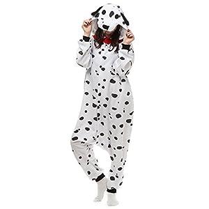 Cousinpjs Animal Onesie Adult Cosplay Costume Onepiece Sleepwear Halloween Pajamas Spotty Dog M