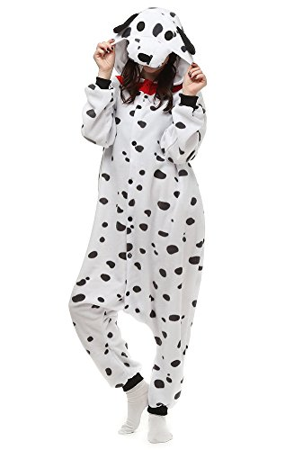 Cousinpjs Adult Cosplay Costume Animal Sleepwear Halloween Pajamas (X-Large, Spotty Dog-1)]()