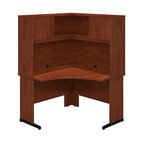 (Bush Business Furniture Series C Elite 48W x 48D C Leg Corner Desk with Hutch in Hansen Cherry)