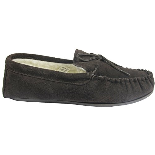 Cool Sheepskin Moccasin - Zapatillas de estar por casa para hombre marrón chocolate