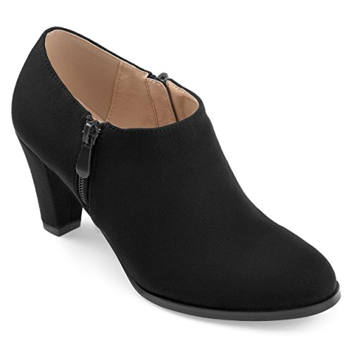 Journee Collection Womens Comfort-Sole Low-Cut Ankle Booties Black, 8 Regular -