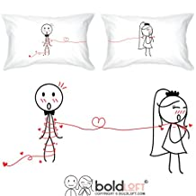 "BoldLoft ""Tie The Knot"" Couple Pillowcases-Romantic Valentine's Day Gifts for Couples,Cute Valentines Gifts for Him or Her,Romantic Anniversary Gifts"