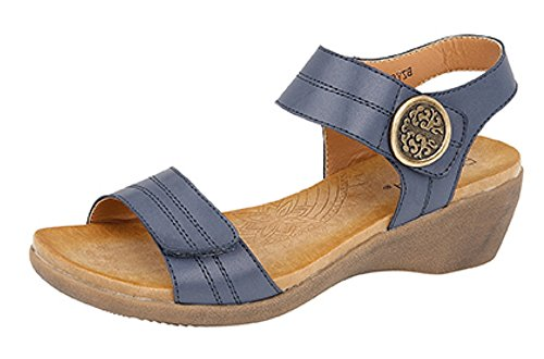 Boulevard - Sandalias de vestir de Material Sintético para mujer azul marino