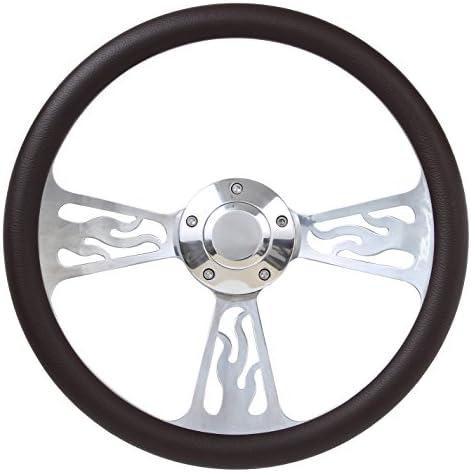 B Forever Sharp 1096 //F27-56P Marine // Boat Steering Wheel Flame // Half Wra...