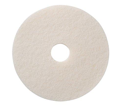"Americo Manufacturing 401211 White Super Polish Floor Pad (5 Pack), 11"""