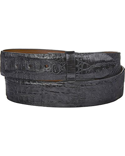 Lucchese Men's W9321 Black Hornback Caiman Belt 36 by Lucchese (Image #1)