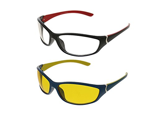 Vast Combo Of All Day & Night vision Eye Pretection Wayfarer Unisex Sunglasses