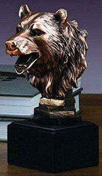(Stock Market Bear Bust - Wall Street Bronze Finish)