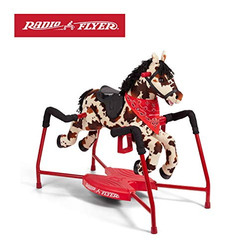 Radio Flyer Freckles Plush Interactive Riding Horse