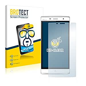 2x BROTECT HD-Clear Protector Pantalla Leagoo Elite 5 Película Protectora – Transparente, Anti-Huellas