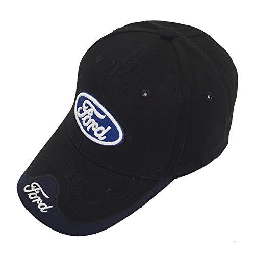Ldntly Baseball Cap Adjustable Men Women Car Logo Black Baseball Cap Adjustable Hat ()