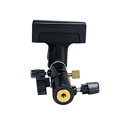 LimoStudio Clamp Clip Holder Light Stand Mount Bracket with Umbrella Reflector Holder & Female Screw Adapter Thread Brass Photography Studio, AGG1809 by Limostudio