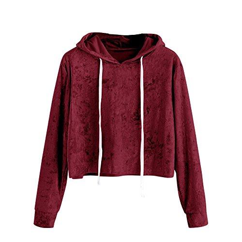 Du Vin Beikoard Over Pull Capuche Sweat Chemisier Top Manches à Shirt à Velvet Sweat à Capuche Longues Femme Pull TrTwUR