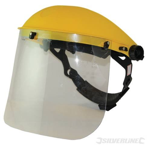 Safety and Workwear Eye Protection Face Shield & Visor Blue Tint Lightweight visor with padded headband and single point ratchet for maximum safety and comfort. Protective, impact and scratch-resistant lens. Convenient flip-up visor. Ideal for use with bru