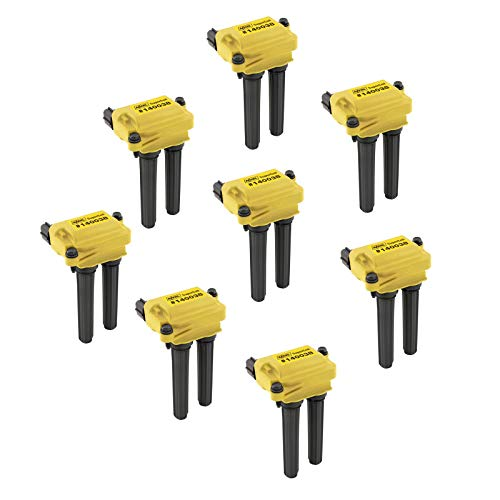 ACCEL 140038-8 Ignition SuperCoil Set (Pack of 8) (2008 Jeep Grand Cherokee Srt8 Gas Mileage)