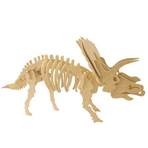 Quebra Cabeça 3d - Dinossauros - Anchiceratopo - 38 Pçs - Puzzle Wamboo BRINQUEDO