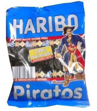 (Haribo Piratos, Salmiak, 200 g)