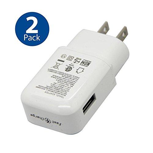 Original LG QuickCharge 3.0 Wall Charging Fast Adapter for G5 G6 NEXUS 5X 6P V10 V20 V30 - 2 PACK - Bulk Packaging