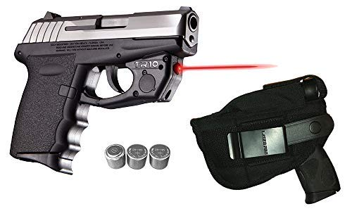 Cpx Battery Series - Laser Kit for SCCY CPX-1, CPX-2, CPX-3 w/LASERPRO Holster, Touch-Activated ArmaLaser TR10 Red Laser & 2 Extra Batteries