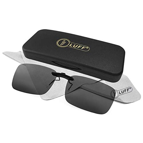 c7f0d20c556 Polarized Unisex Clip on Sunglasses for Prescription Eyeglasses-Good Clip  Style Sunglasses for Myopia Glasses