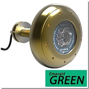 (Bluefin LED Stingray S20 Thru-Hull Underwater LED Light - 9000 Lumens - Emerald Green (53387))