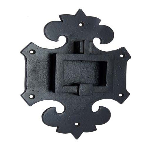Adonai Hardware Mnason Antique Iron Door Knocker (Black Powdercoated)