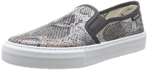 Sneaker Grau on Slip Damen Metalizado Tej Grau Serp victoria qZSBgY