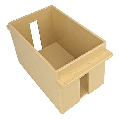 (Extra-Capacity Rolled Coin Plastic Storage Tray, Half-Dollar, Beige (2 Trays))