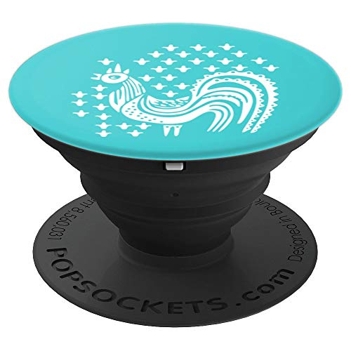 Vintage Pyrex Butterprint, Amish Rooster Design - PopSockets - PopSockets Grip and Stand for Phones and Tablets (Amish Butterprint Pyrex)