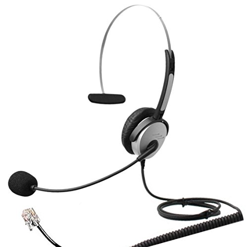 4Call K500MA Corded RJ Telephone Headset Mono with NC Microphone for Aastra Nortel Nec Mitel ShoreTel Toshiba Siemens GE InterTel Sprint Talkswitch Iwatsu Packet8 ESI Allworx 3Com Office IP (Ge Telephone Headset)