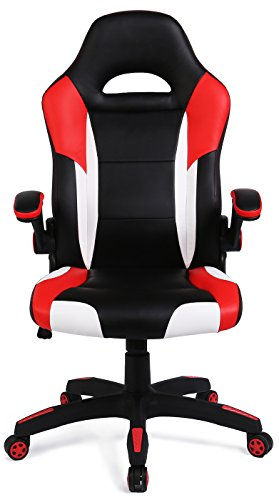 SEATZONE Racing Car Style Gaming Chair with Bucket Seat, PU