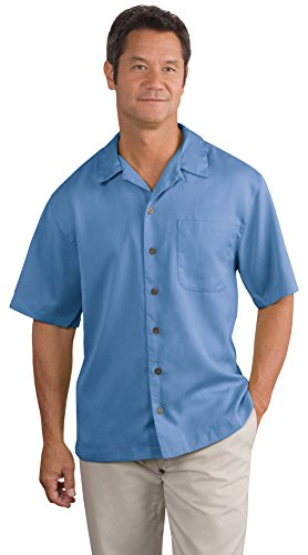 Port Authority Easy Care Camp Shirt, Blue, XX-Large