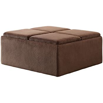 Amazoncom Homelegance Contemporary Storage Ottoman with Four