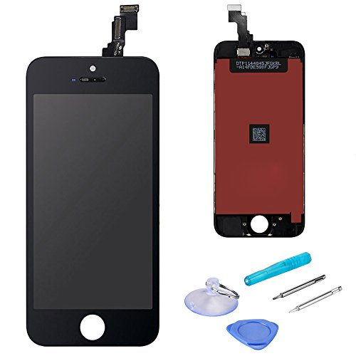(LCD Touch Screen Digitizer Display Replacement Assembly with Repair Tool for iPhone SE-Black)