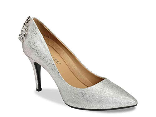 Aerosoles Women's Deans List Pump, Silver, 10 M -
