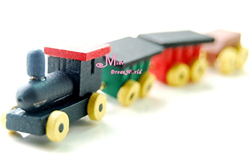 1:12 Dollhouse Miniatures Vintage Colorful Toy Baby Train